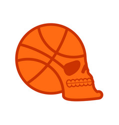 basketball skull sport fans emblem ball skeleton vector image
