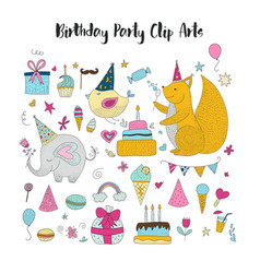 Birthday party clip arts vector