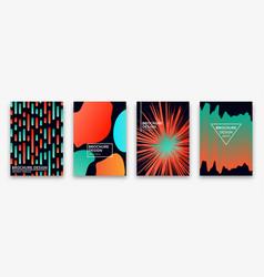 Brochure design with trendy neon gradients vector