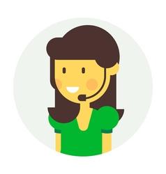 Callgirl Flat vector image