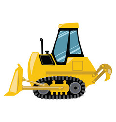 cartoon bulldozer of vector image