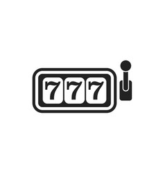 casino slot machine flat icon 777 jackpot vector image