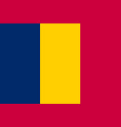 chad national current flag vector image