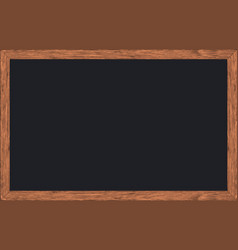 chalk rubbed out on blackboard with wooden frame vector image