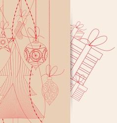 Christmas background retro vector