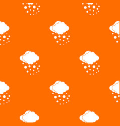 Cloud with hail pattern seamless vector
