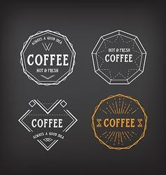 Coffee menu logo template vintage geometric badge vector image