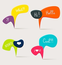 Colorful questions speech bubbles vector image