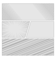 Comics pop art style blank layout template with vector image