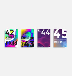 Covers templates collection with graphic geometric vector