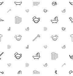 Craft icons pattern seamless white background vector