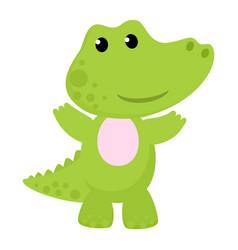 Crocodile cartoon crocodilian character vector