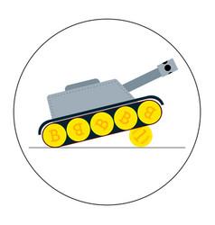 crypto tank vector image