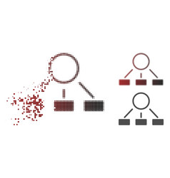 damaged pixelated halftone hierarchy icon vector image