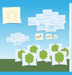 decorative landscape eps 10 vector image