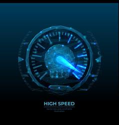 Digital polygonal image high speed concept vector