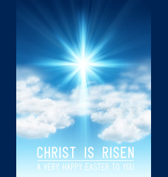 easter background with light and cross rays vector image