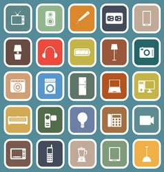 Electrical machine flat icons on blue background vector