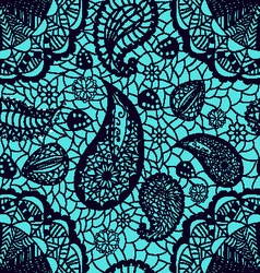 fashion pattern lace flowers paisley vector image