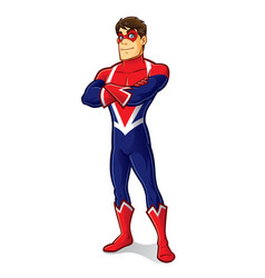 friendly superhero crossing arm vector image