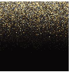 Gold glitter black background vector