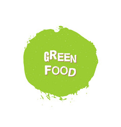 green food eco fresh bio organic design template vector image
