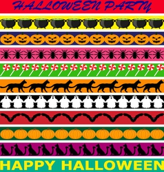 Halloween borders vector image