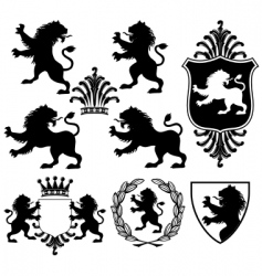 heraldry silhouettes vector image