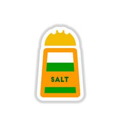 label icon on design sticker collection salt vector image