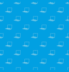 laptop pattern seamless blue vector image