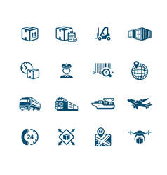 Logistics icons - micro series vector