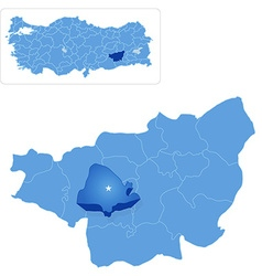 Map of Diyarbakir - Kayapinar is pulled out vector image
