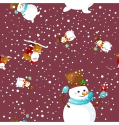 Merry Christmas and Happy New Year Friends Santa vector image