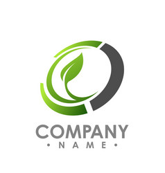 Nature logo for health company icon concept vector