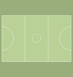 Netball court vector image