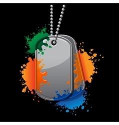 Painball army tags vector