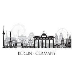 panoramic berlin cityscape vector image