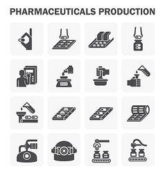 Pharmacy manufacture 2 vector image