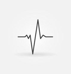 Pulse concept minimal icon in thin line vector