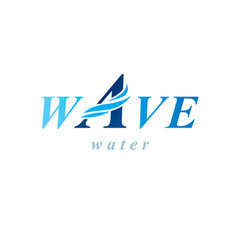 pure aqua ecology logotype water day theme human vector image