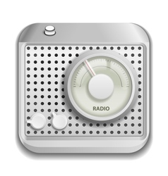 Radio app icon vector