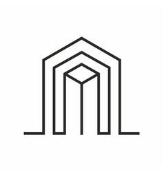 real estate logo minimalist isolated in white bac vector image
