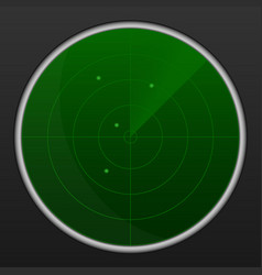 realistic radar in searching air search vector image