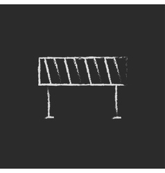 Road barrier icon drawn in chalk vector