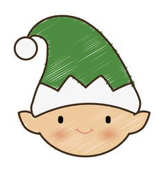 santa helper icon vector image