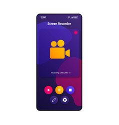 screen recording software smartphone interface vector image