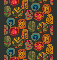 seamless pattern with autumn nature vector image