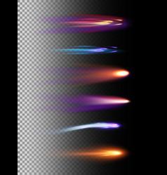 set of light effectsspace vector image