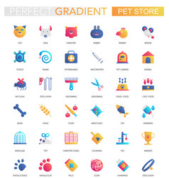 set of trendy flat gradient pet friend vector image
