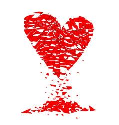 Shattered lovers heart vector